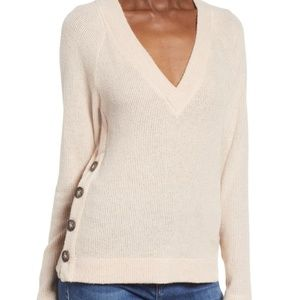 NWOT Socialite Blush Sweater with Button Detail